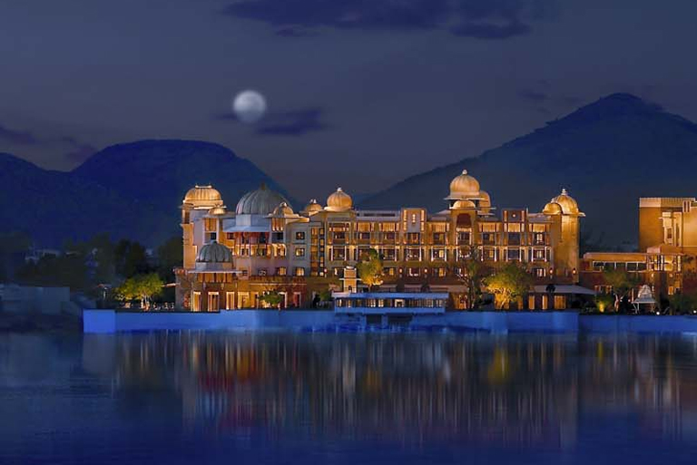 Most Beautiful Night Scene of Lake Palace Pichola, Udaipur, rajasthan, India